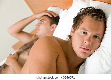 A homosexual couple having difficulties in relationship