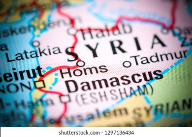 Homs, Syria on a map