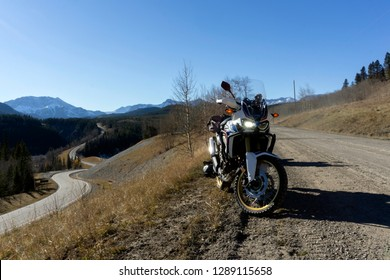 The Honda Africa Twin ADV Motorcycle in its Natural Environment, the Rocky Mountains!