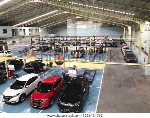 Honda Car Service Center Aerial View Stock Photo Edit Now 1156414762