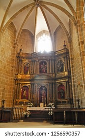 Hondarribia, San Sebastian, Spain - APRIL 25 , 2011:interior of the Parish Church of Fuenterrabía