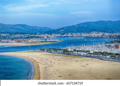 HONDARRIBIA, SPAIN - MAY 26: Beach on May 26, 2016 in Hondarribia, Spain.