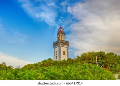 HONDARRIBIA, SPAIN - MAY 26: Lighthouse of Higuer on May 26, 2016 in Hondarribia, Spain.