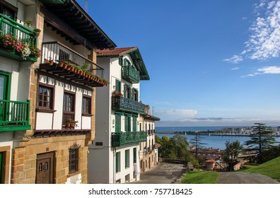 AT HONDARRIBIA, SPAIN - ON  08/27/2017 - Hondarribia, a picturesque village on basque coast of spain