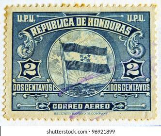 HONDURAS - CIRCA 1970: A stamp printed in Honduras shows the Central America flag, circa 1970