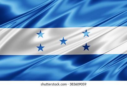 Honduras  flag of silk