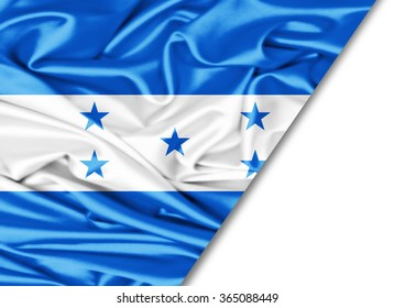 Honduras   flag of silk with copyspace for your text or images and White background