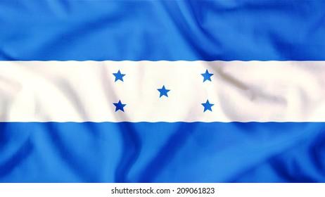 honduras flag waving colorful