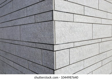Honed natural grey block (exterior wall)