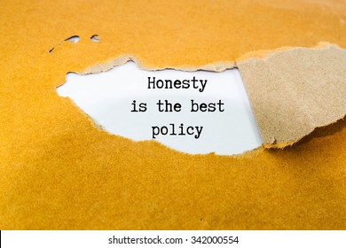 Honesty is the best policy test on brown envelope