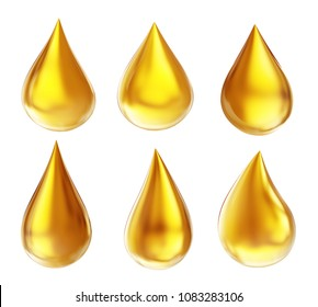 honey  drop  isolated on a white background. yellow oil 3d illustration