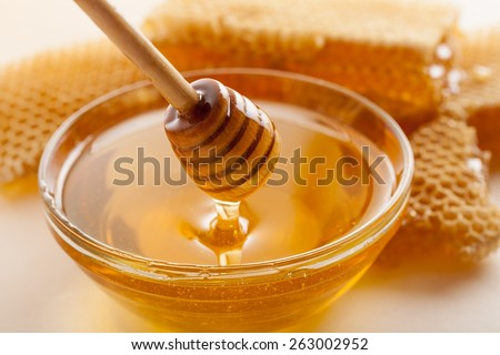 Honey, Honeycomb, Honey Bee.