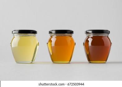 Honey Jar Mock-Up - Three Jars