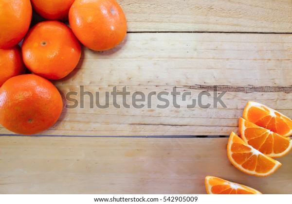 Honey morcot orange on the wood background