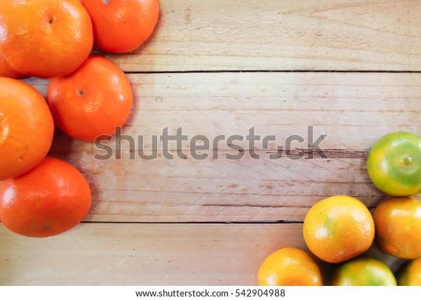 Honey morcot and Sai num pung orange on the wood background#4