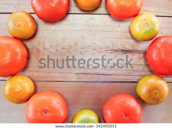 Honey morcot and Sai num pung orange on the wood background#3