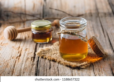 honey on wooden background