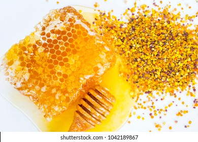 honey and pollen