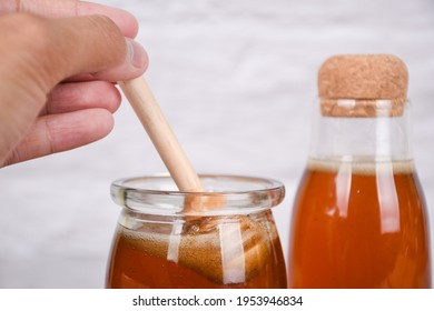 honey is a recommended healthy drink with whitespace