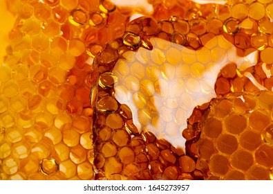 honey texture close up in the detail