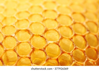 honeycomb closeup yellow abstract background