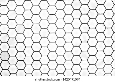 Honeycomb design for a wall tile or floor in shape of heptagon, luxury home design, very clean place also perfect lightning.