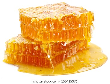 Honeycomb on a white background.