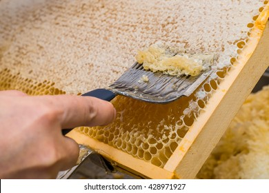 Honeycomb will open and uncapped for harvest honey