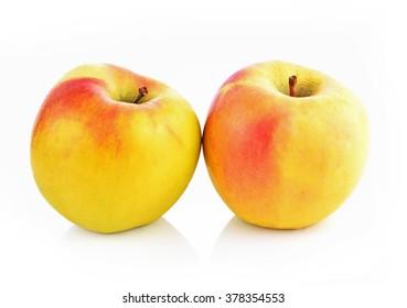 Honeycrisp apple isolated on white background