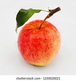 honeycrisp apple on white background