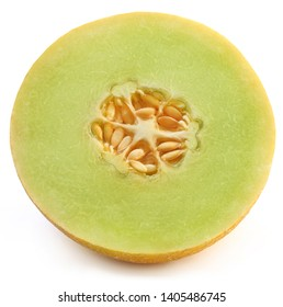 Honeydew melon over white background