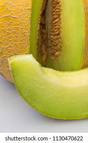 Honeydew melon.Slice of melon