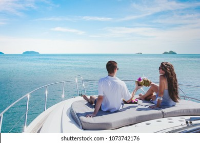 honeymoon on luxury yacht, luxurious lifrestyle and travel, romantic holidays for couple
