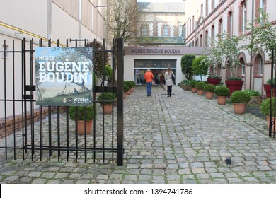 Honfleur, France, April 9th 2019: Eugene Boudin Museum in Honfleur, France