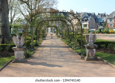 Honfleur, France, April 9th 2019: Park in Honfleur, France