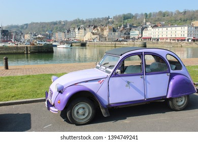 Honfleur, France, April 9th 2019: Citroen car near Honfleur, France