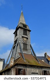 Honfleur, France - august 18 2016 : bell tower of the Sainte Catherine church