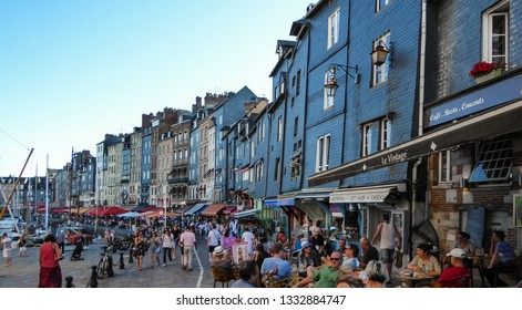 Honfleur / Normandie / France - 07-22-2016:  Honfleur at sunset