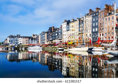 Honfleur, Normandy, France. The harbor and surroundings
