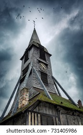 Honfleur, Normandy, France. Saint Catherine's Church bell tower
