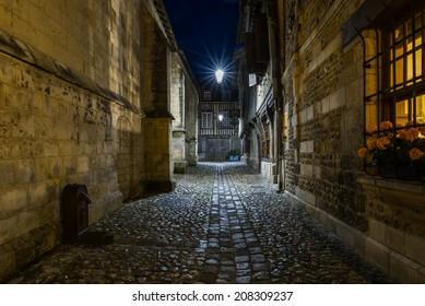 Honfleur Rue de la prison, Normandy, France