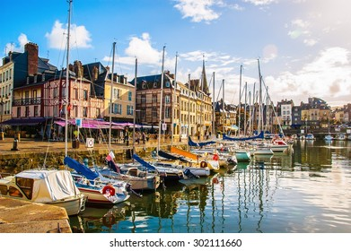 HONFLEUR/FRANCE- OCT 1: Fishing port and boats on Oct 1,2005 in Honfleur, France. The Honfleur is located in the northwest of France.  It is a popular tourist spots.