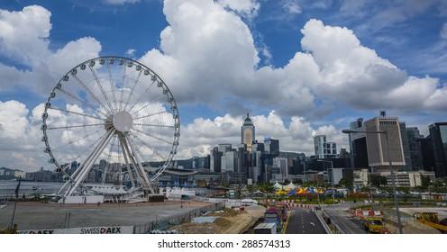 HONG KONG - 14 JUNE 2015 - FERRIS WHEEL IN HONG KONG