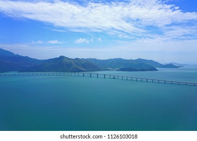HONG KONG -16 JUN 2018- Construction of the Hong Kong-Zhuhai-Macao bridge (HKZMB) over the Lingdingyang channel. Kt is supposed to open in July 2018.