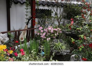 HONG KONG - 16 MAR: Hong Kong Flower Show 2017 in Hong Kong on 16 March 2017
