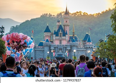 Hong Kong - 20 October 2017: Disneyland Resort in Hong Kong.