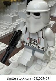 HONG KONG - 22 DEC: Star Wars Figures in Times Square in Hong Kong on 22 December 2015