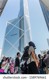Hong Kong - 29 November 2019: Peaceful march to American consulate calling for help from US President Donald Trump, by passing Hong Kong Human Rights and Democracy Act.