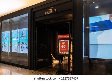 HONG KONG - 4 July, 2018: Hollister store in Hong Kong.