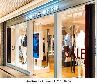 HONG KONG - 4 July, 2018: Tommy Hilfiger store in Hong Kong.